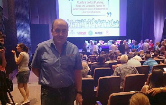 Miguel Santellán en la Cumbre Mundial de Comercio
