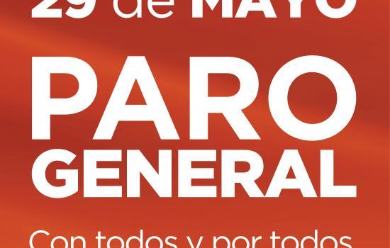 29 de mayo, PARO GENERAL